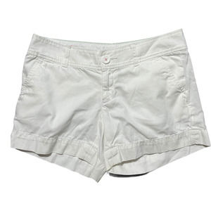 Lilly Pulitzer Flat Front Shorts White 0